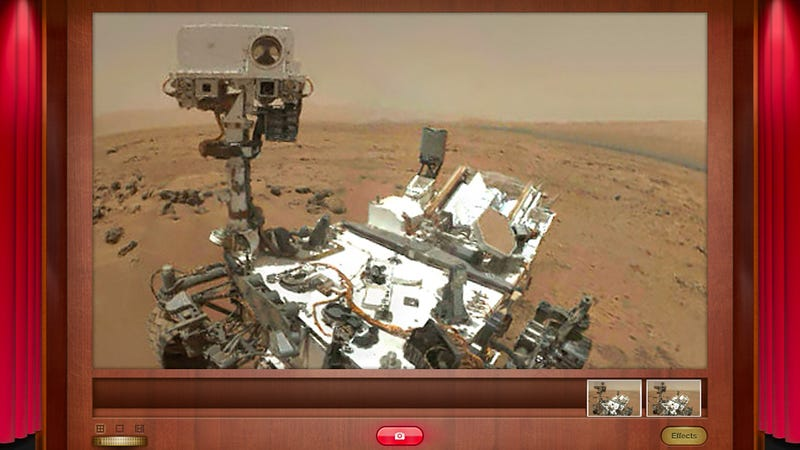 Illustration for article titled Curiosity Snaps Its First Self-Portrait On Mars