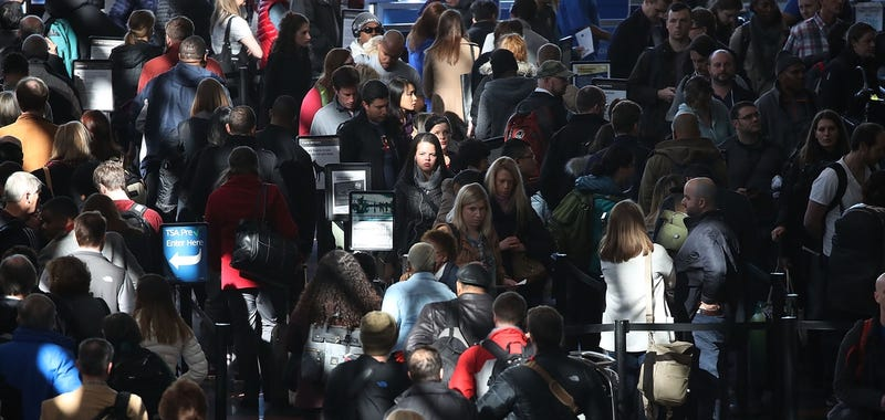 TSA lines at Reagan National Airport (Photo by Mark Wilson/Getty Images)