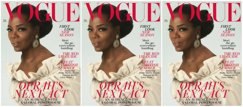 Illustration for article titled Yass, Queen! Oprah Channels Royalty on the Cover of Vogue UK's August Issue