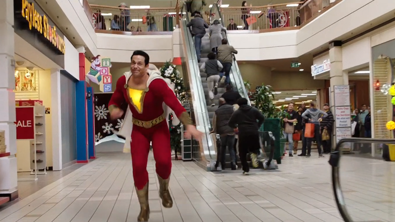 Zachary Levi, some extras, and some production staff, in Shazam. Did you see 'em?
