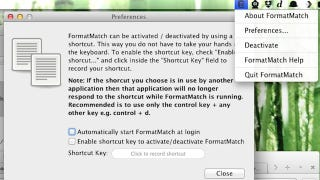 Illustration for article titled FormatMatch for Mac Pastes Text in All Applications Without Formatting
