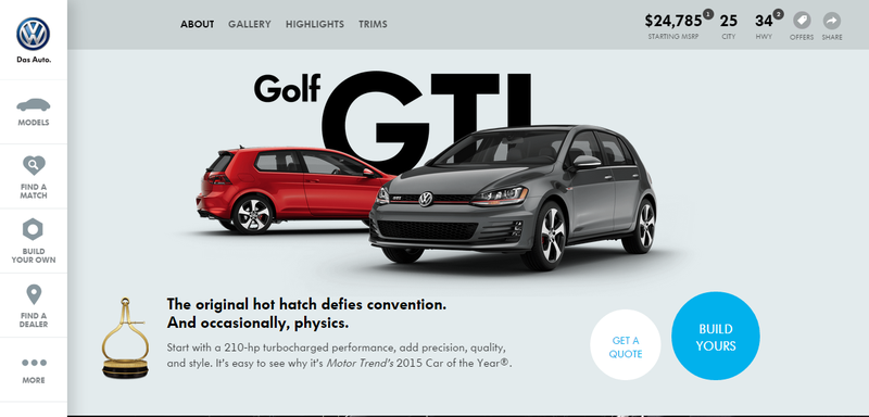 Illustration for article titled Rejoice: Volkswagen Finally Adds A Car Configurator To Its Website
