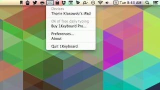1Keyboard Connects Any Mac Keyboard to Your iOS Device