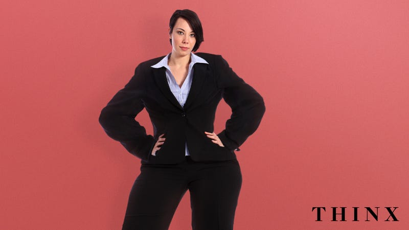 Illustration for article titled Total Time Saver: Thinx Has Released A 10-Inch-Thick Pantsuit That Busy Working Women Can Bleed Into For Up To 6 Years