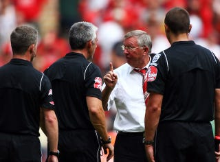 Illustration for article titled Man U Manager Alex Ferguson Charged With Earnestly Complimenting A Referee