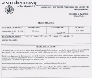 Illustration for article titled Here's The Police Report For The Fiery Crash That Killed Jackass Star Ryan Dunn