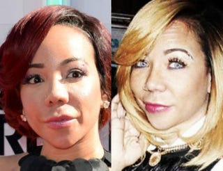 Tiny Harris before, and after, the eye-color changeEarl Gibson III/Getty Images/Instagram