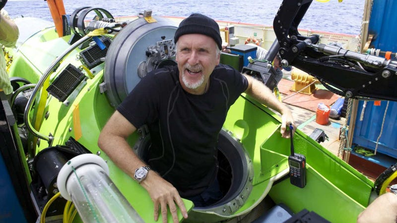 Illustration for article titled James Cameron Captured His Marianas Dive With Custom-Built HD Mini-Cameras