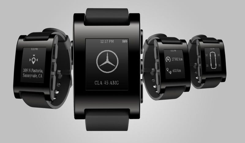 Illustration for article titled Mercedes's Car Monitoring Smart Watch Might Actually Be Useful