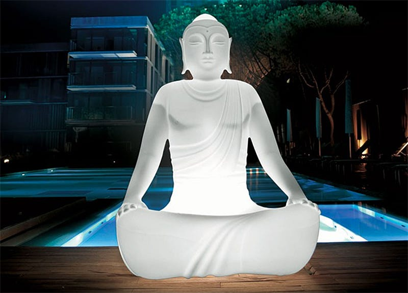 Illustration for article titled Sitting on This Glowing Buddha Chair Is Probably the Most Relaxing Thing