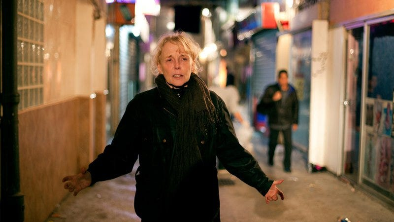 Claire Denis on the set of Bastards