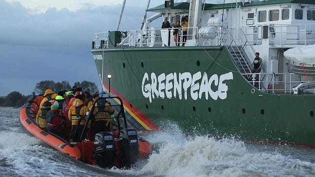 Why Energy Companies Are Accusing Greenpeace of Breaking Organized Crime Laws