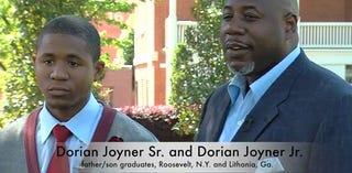 Dorian Joyner Jr. and Sr. (Morehouse College/YouTube)