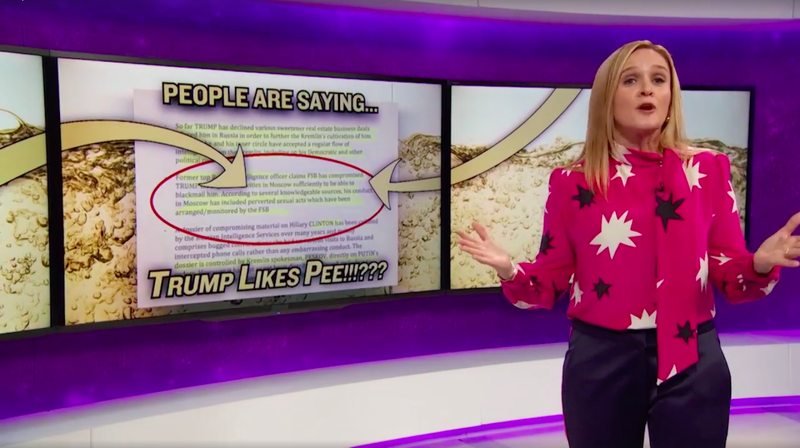 Samantha Bee's Report on Trump's Obsession with Watersports is Golden