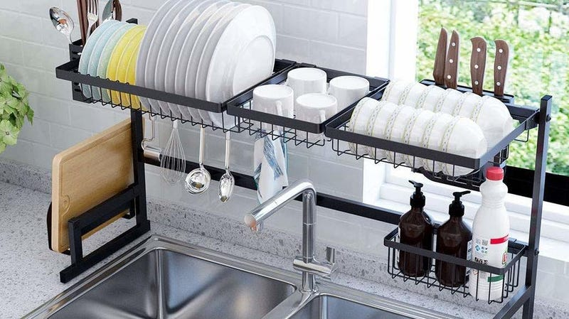 Sink Rack Dish Drainer | $98 | Amazon | Clip $25 coupon and use promo code M2KCWP2A