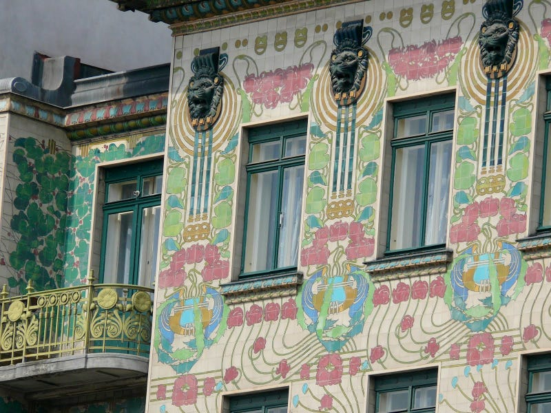 Art nouveau architecture house