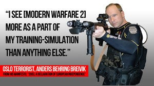 """Illustration for article titled Oslo Terrorist Used Modern Warfare 2 as """"Training-Simulation"""", World of Warcraft as Cover"""
