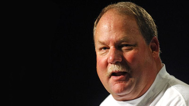 Illustration for article titled NBC Analyst Mike Holmgren Crawls Under Desk After Seeing Own Shadow