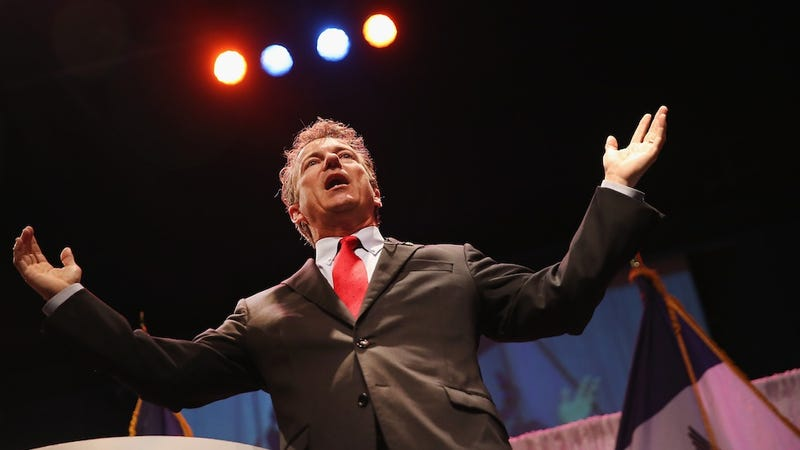 Illustration for article titled Rand Paul to Use Incorrigible Dickishness For a Good Cause