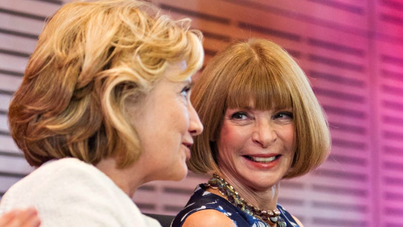 Illustration for article titled Anna Wintour Buries the Hatchet, Endorses Hillary Clinton 2016