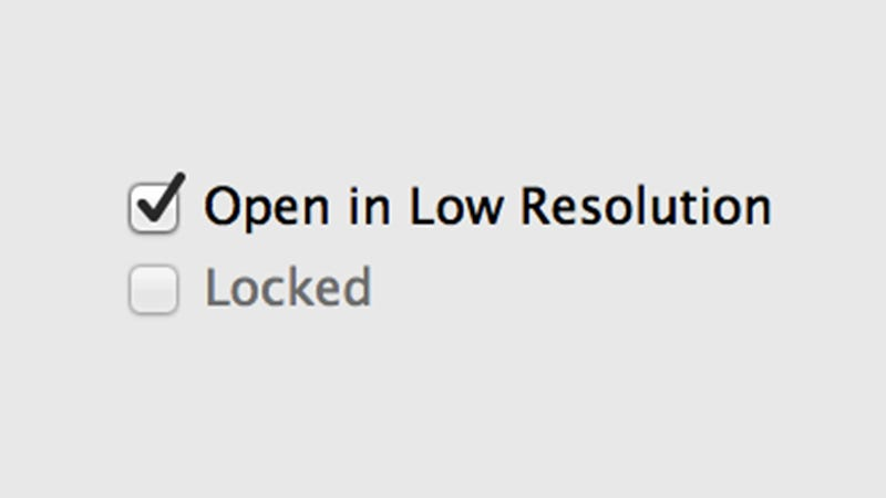 """Illustration for article titled Use the Hidden """"Low Resolution"""" Option to Improve Game Performance on Retina Macs"""