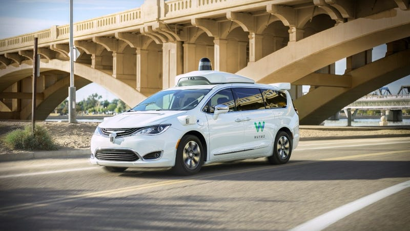 One of Waymo's self-driving taxis in Arizona
