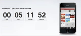 """Illustration for article titled Opera Mini Submitted to App Store, Complete with Passive Aggressive """"Countup"""" Clock"""