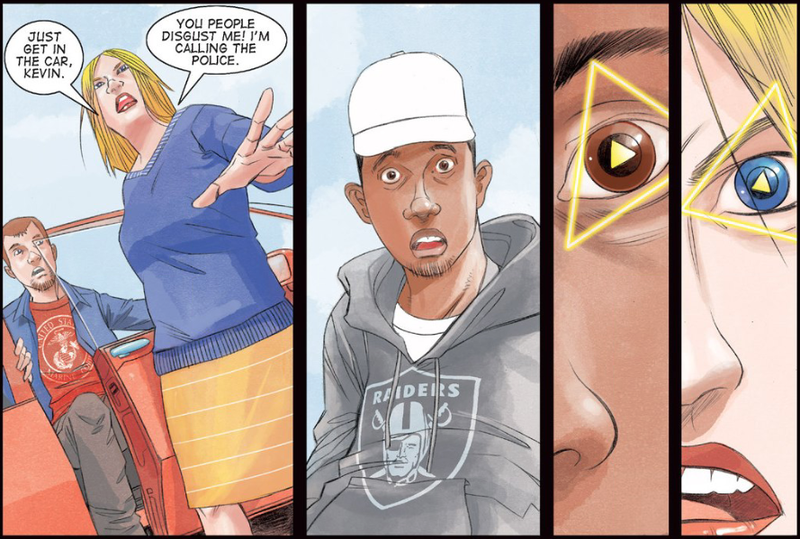 Illustration for article titled Out This Week, A Comic Book Where A Black Street Dude and A White Racist Get Superpowers