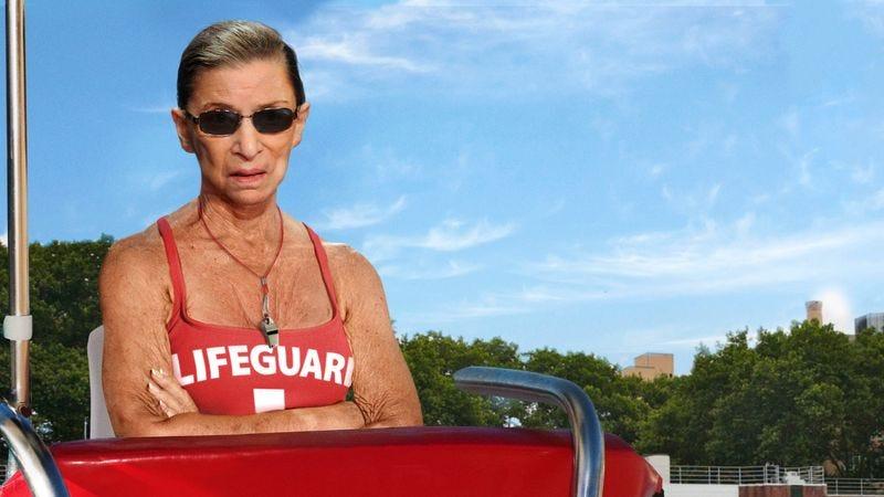 Illustration for article titled Ruth Bader Ginsburg Returns To Off-Season Lifeguarding Job