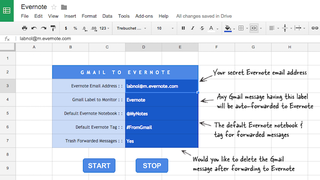 Illustration for article titled Send Gmail Messages to Evernote with a Google Sheet