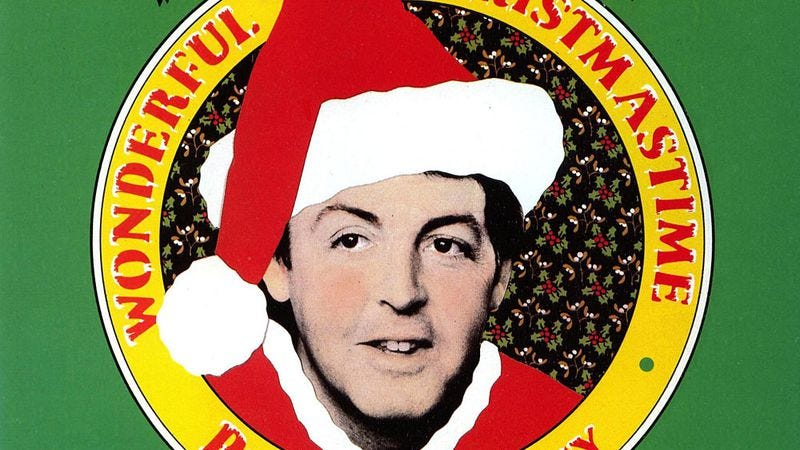 "Illustration for article titled Paul McCartney wrote a simply rotten ""Christmastime"""