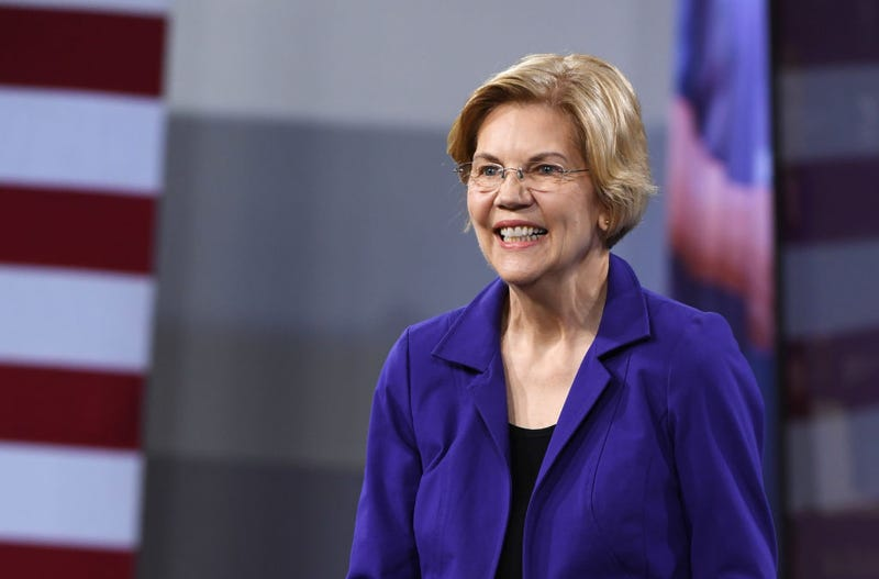 Democratic presidential candidate U.S. Sen. Elizabeth Warren (D-Mass.) speaks at the National Forum on Wages and Working People: Creating an Economy That Works for All at Enclave on April 27, 2019 in Las Vegas.