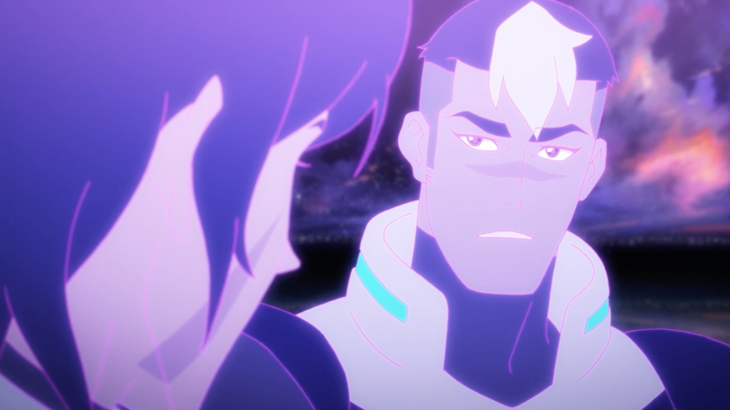 Lance and Shiro speaking within the Black Lion's consciousness.