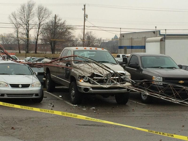 Illustration for article titled Lexington Police Communications Tower Collapses Onto Parking Lot