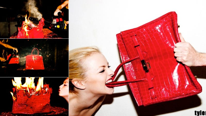 """Illustration for article titled Burning A Birkin Is Not """"Art"""""""
