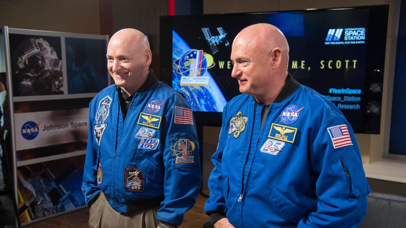 Scott and Mark Kelly, astronaut twins.