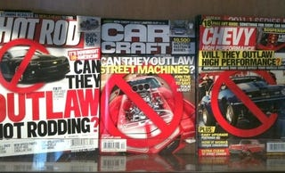 Illustration for article titled Hot Rod Mags Pump Up Government Fears To Boost Advertisers