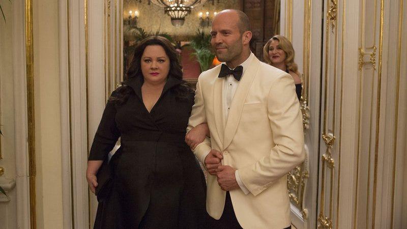 Melissa McCarthy and Jason Statham in Spy