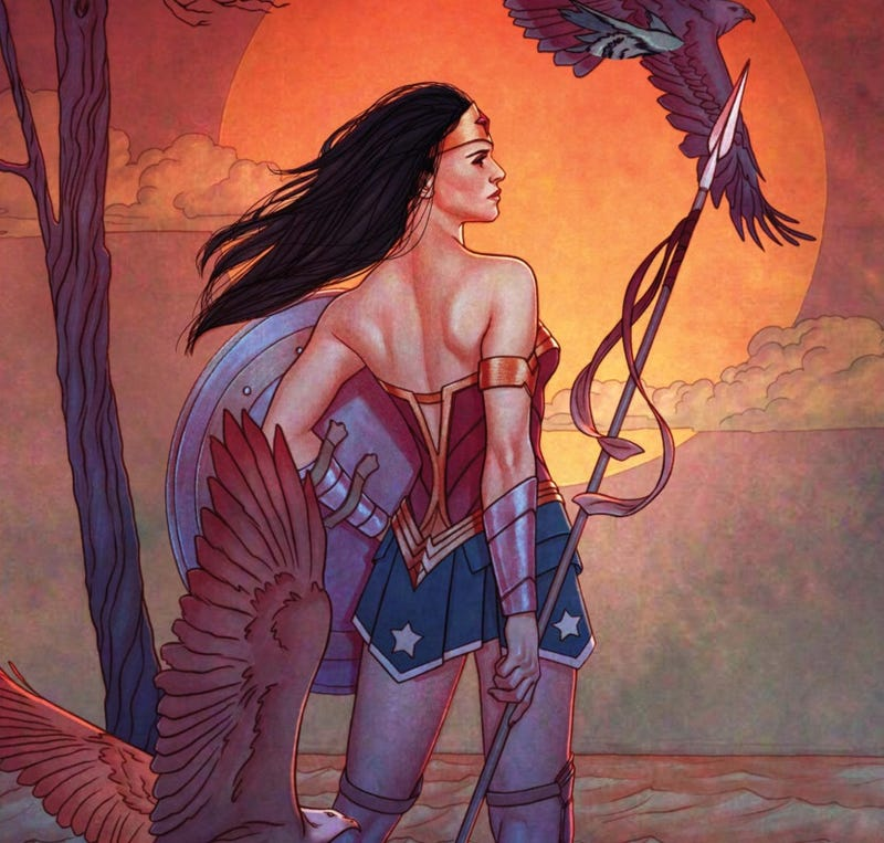 The variant cover for Wonder Woman #9 by Jenny Frison.