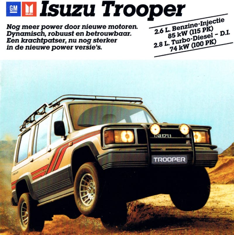 """How underrated is the Isuzu Trooper?"" is a question I wake up in the middle of the night asking mys"