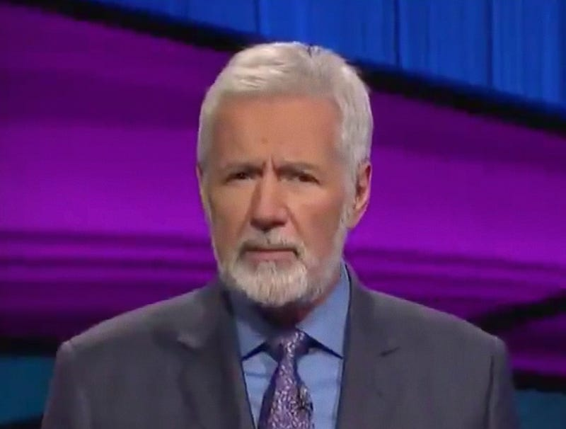 Illustration for article titled Millions Of Retirees Absolutely Sopping Wet After Seeing Alex Trebek's New Beard