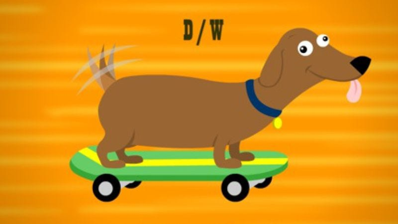 Illustration for article titled In just 29 seconds, Parry Gripp captures the essence of a skateboarding dachshund