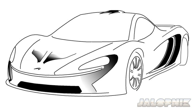 Illustration for article titled This Sketch Is Pretty Much What The McLaren P12 Will Look Like, Probably