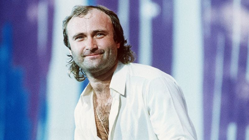 Illustration for article titled Phil Collins was just your average, everyday, kind of creepy star when he made No Jacket Required