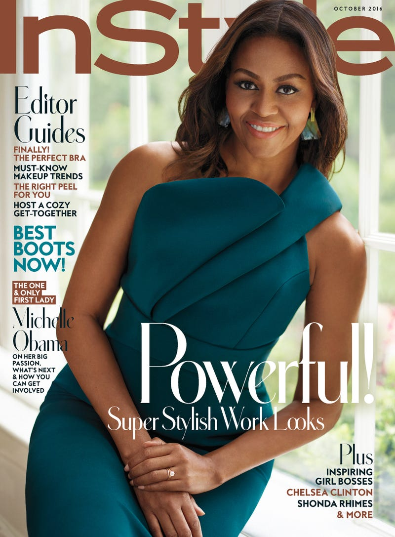 First lady Michelle Obama on the cover of the October 2016 issue of InStyleInStyle magazine