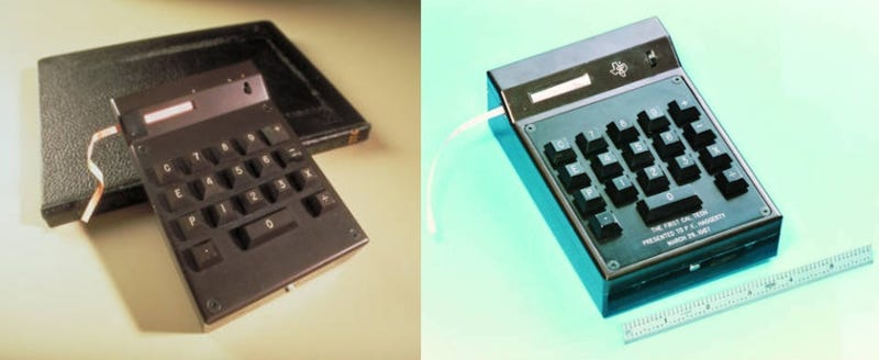 Prototype of the world's first handheld electronic calculator, the CAL-TECH