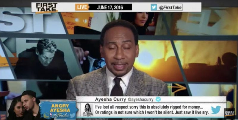 Illustration for article titled Stephen A. Smith Enjoys An Online Interaction With A Fan