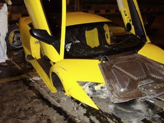 Illustration for article titled This Lamborghini Murcielago LP640 Is The Most Expensive Crash Ever... In India