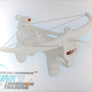 Illustration for article titled Wii Crossbow Has Laser Sight, Tip Covered by Ping Pong Ball