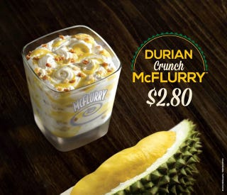 Illustration for article titled The McDonald's Durian Crunch McFlurry Can Only Be Awful